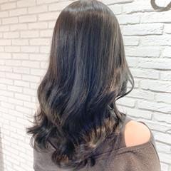 アンニュイほつれヘア セミロング 韓国風ヘアー 透明感カラー ヘアスタイルや髪型の写真・画像