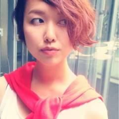 ショート ストリート 卵型 モード ヘアスタイルや髪型の写真・画像