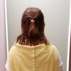 簡単 ヘアアレンジ ショート ナチュラル ヘアスタイルや髪型の写真・画像