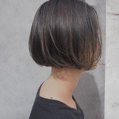 ハイライト ナチュラル ボブ リラックス ヘアスタイルや髪型の写真・画像