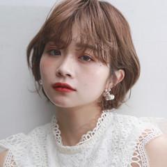 マッシュショート ガーリー 韓国風ヘアー ショートヘア ヘアスタイルや髪型の写真・画像