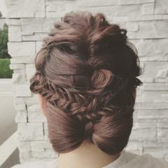 ピンク ガーリー ロング レッド ヘアスタイルや髪型の写真・画像