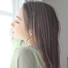 前髪 ナチュラル 縮毛矯正 髪質改善 ヘアスタイルや髪型の写真・画像