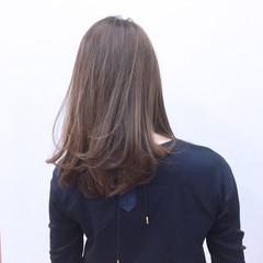 グラデーションカラー 外国人風 セミロング ストレート ヘアスタイルや髪型の写真・画像