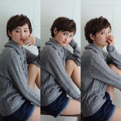 モード ショート 大人かわいい 外国人風 ヘアスタイルや髪型の写真・画像