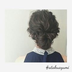 ミディアム 上品 ヘアアレンジ 結婚式 ヘアスタイルや髪型の写真・画像
