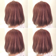外国人風 ピンクアッシュ ストリート ハイトーン ヘアスタイルや髪型の写真・画像