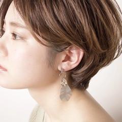 デート ショート アンニュイほつれヘア 簡単ヘアアレンジ ヘアスタイルや髪型の写真・画像