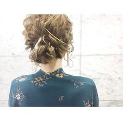 セミロング 外国人風カラー 卒業式 簡単ヘアアレンジ ヘアスタイルや髪型の写真・画像