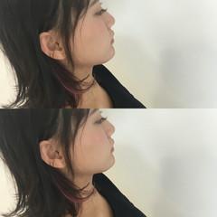 ショート 前髪あり 簡単ヘアアレンジ ハイライト ヘアスタイルや髪型の写真・画像