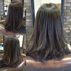 ハイライト モード ストリート ロング ヘアスタイルや髪型の写真・画像
