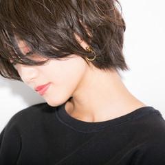 秋 ショート 透明感 大人女子 ヘアスタイルや髪型の写真・画像