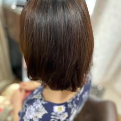 切りっぱなしボブ エレガント 髪質改善カラー デジタルパーマ ヘアスタイルや髪型の写真・画像