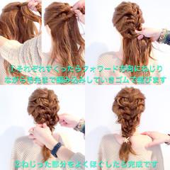 謝恩会 エレガント 上品 簡単ヘアアレンジ ヘアスタイルや髪型の写真・画像