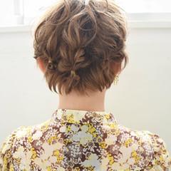 ヘアアレンジ 簡単ヘアアレンジ ナチュラル ショートヘア ヘアスタイルや髪型の写真・画像
