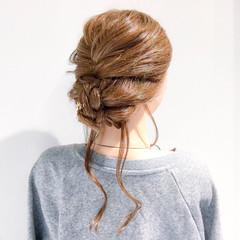 ロング 結婚式 デート 上品 ヘアスタイルや髪型の写真・画像