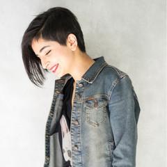 ストリート 黒髪 外国人風 前髪あり ヘアスタイルや髪型の写真・画像