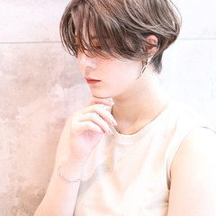 ナチュラル 小顔ショート パーマ デジタルパーマ ヘアスタイルや髪型の写真・画像