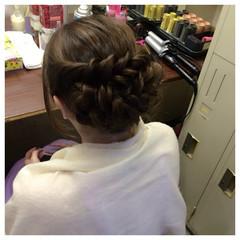 編み込み ゆるふわ ロング 大人かわいい ヘアスタイルや髪型の写真・画像