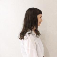 ヘアアレンジ ナチュラル 前髪あり セミロング ヘアスタイルや髪型の写真・画像