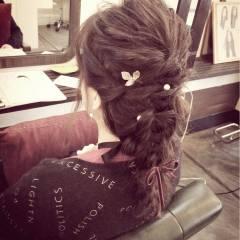 ゆるふわ 編み込み ルーズ ストリート ヘアスタイルや髪型の写真・画像