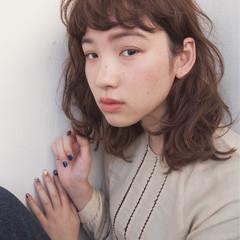 小顔 こなれ感 ニュアンス ナチュラル ヘアスタイルや髪型の写真・画像