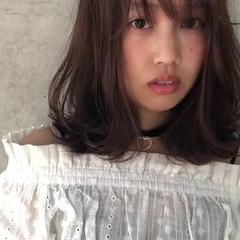 モテ髪 ピンクブラウン ピンクラベンダー フェミニン ヘアスタイルや髪型の写真・画像