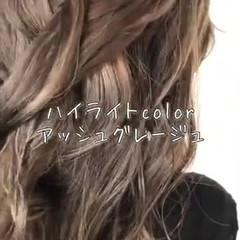 髪質改善トリートメント バレイヤージュ セミロング 髪質改善 ヘアスタイルや髪型の写真・画像