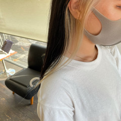 かわいい インナーカラー 大人かわいい コンサバ ヘアスタイルや髪型の写真・画像