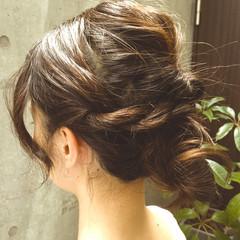 夏 簡単ヘアアレンジ セミロング ヘアアレンジ ヘアスタイルや髪型の写真・画像