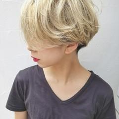 モード 外国人風 ショート リラックス ヘアスタイルや髪型の写真・画像