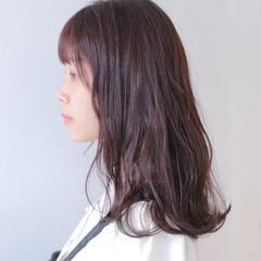 ピンクブラウン バレイヤージュ デザインカラー ミディアム ヘアスタイルや髪型の写真・画像