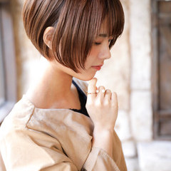 ナチュラル ショート デート ヘアスタイルや髪型の写真・画像