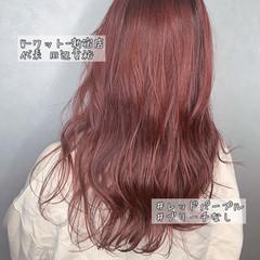 透明感カラー レッドブラウン ナチュラル ミディアム ヘアスタイルや髪型の写真・画像
