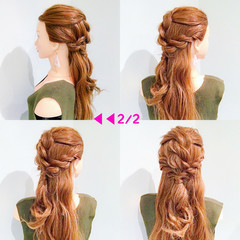 デート アウトドア 簡単ヘアアレンジ ヘアアレンジ ヘアスタイルや髪型の写真・画像