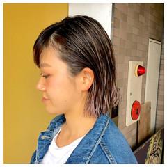 夏 外国人風 ウェットヘア ストリート ヘアスタイルや髪型の写真・画像