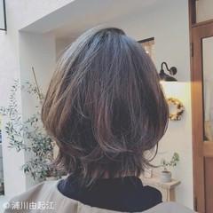 ミディアム 大人かわいい アンニュイほつれヘア ゆるふわ ヘアスタイルや髪型の写真・画像