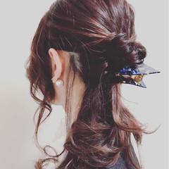 フェミニン 結婚式 デート 女子会 ヘアスタイルや髪型の写真・画像