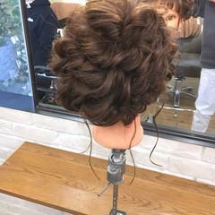謝恩会 ミディアム ナチュラル 簡単ヘアアレンジ ヘアスタイルや髪型の写真・画像