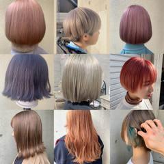 ストリート ショートヘア ブリーチカラー ハイトーンカラー ヘアスタイルや髪型の写真・画像