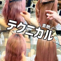 ミディアム グレージュ ナチュラル 縮毛矯正 ヘアスタイルや髪型の写真・画像