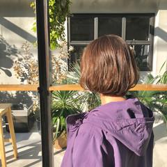 ミルクティーベージュ ミニボブ ショートボブ ナチュラル ヘアスタイルや髪型の写真・画像