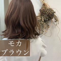 ナチュラル 秋ブラウン ナチュラルブラウンカラー ミルクティーブラウン ヘアスタイルや髪型の写真・画像