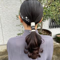 成人式ヘア ナチュラル 結婚式ヘアアレンジ ミディアム ヘアスタイルや髪型の写真・画像