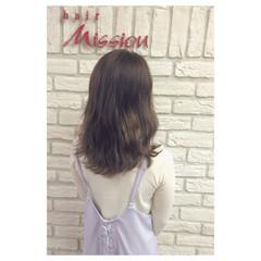 フェミニン ゆるふわ ラベンダーアッシュ ピンク ヘアスタイルや髪型の写真・画像