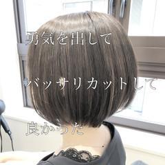 ハンサムショート ショートボブ ショート ショートヘア ヘアスタイルや髪型の写真・画像