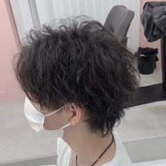 ストリート ミディアム センターパート メンズ ヘアスタイルや髪型の写真・画像