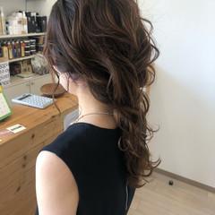結婚式 編みおろし ロング エレガント ヘアスタイルや髪型の写真・画像