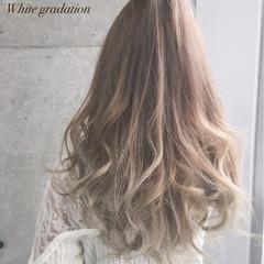 グラデーションカラー ガーリー 渋谷系 アッシュ ヘアスタイルや髪型の写真・画像