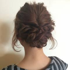 アップスタイル ナチュラル ヘアアレンジ パーティ ヘアスタイルや髪型の写真・画像